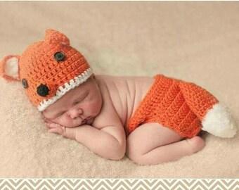 Fox crochet set