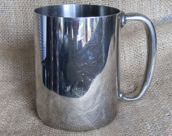 Vintage 1939 Stainless Steel Pint Tankard / Stein