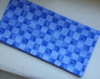 Blue Checkerboard Fabric, fat quarter, blue checkers