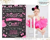Minnie Mouse Invitation Minnie Mouse Pink Bow-tique Invitation Minnie Mouse Pink Bow-Tique Birthday Party Invitation Minnie Mouse Birthday