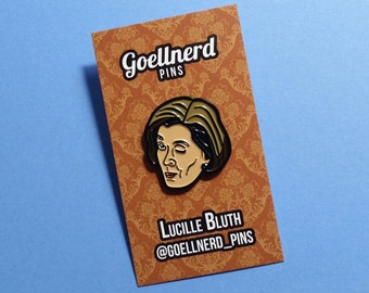 Arrested Development Lucille Bluth Wink Enamel Pin