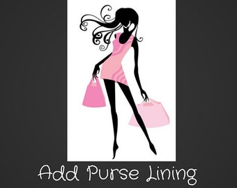 Add On-Add a Lining to Your Purse/Bag Order