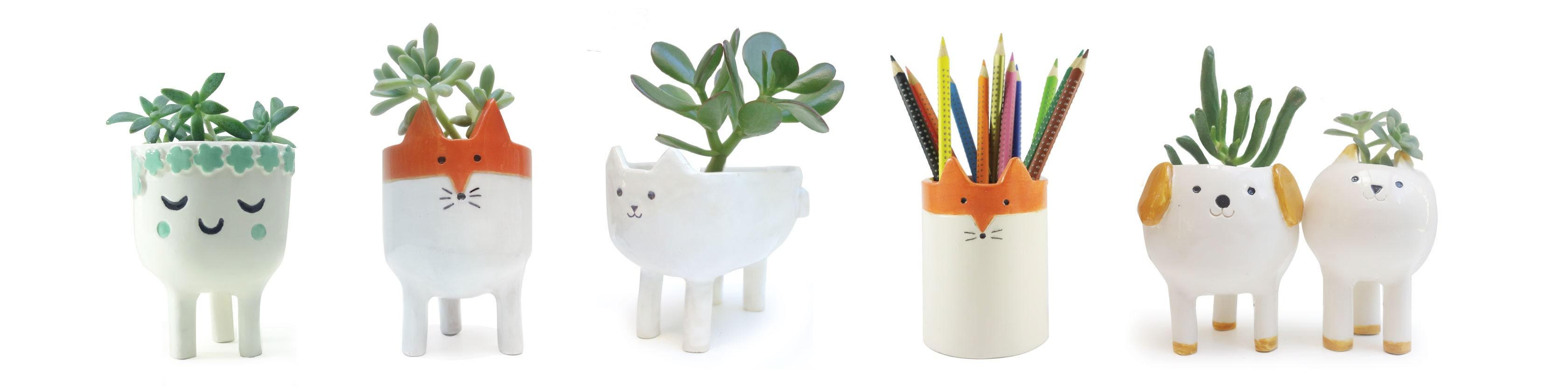 Des petits pots mignons pour plantes vert cerise blog diy do it yourself lifestyle et for Petit plante pour bureau montpellier