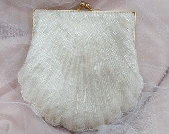 Vintage beaded clutch or shoulder bag
