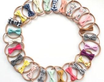 Fabric Bow Headband - Pick Your Own - Headband OR Clip