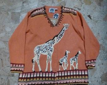 Women Giraffe Lovers cardigan sweater