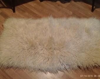 Vintage Flokati Rug,Thick Wool,Sheepskin Area Rug,Fur Throw,Genuine Flokati