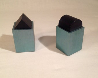 David Tisdale Elika Anodized Aluminum Salt and Pepper Shakers