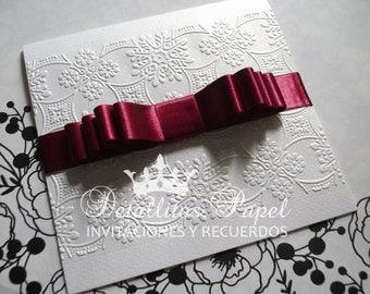 Wedding invitation, Quinceanera invitation, Handmade invitations 100