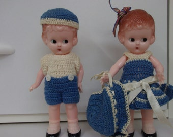 two knickerbocker 6 inch dolls