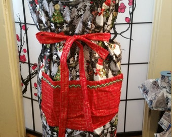 Extra Large Christmas Aprons With Large Center Pocket