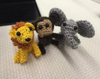 Zoo Starter: Lion, Monkey, & Elephant (2 inches)