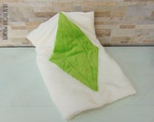The Sims Green PlumbBob Crystal Plaid Blanket Handmade - Icon Plumbbob plush plaid - Made in Italy