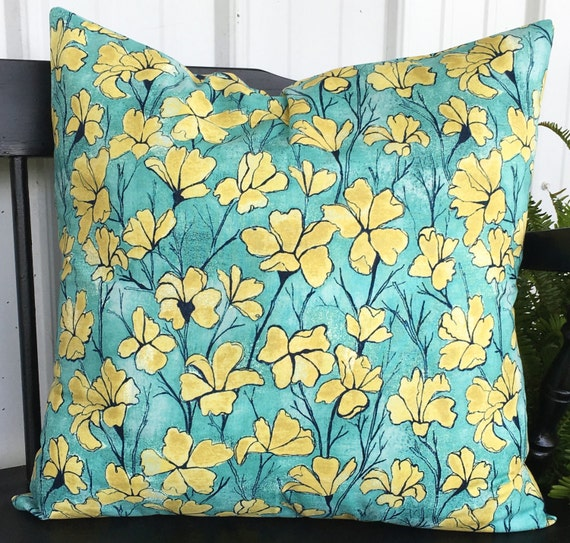 20x20 teal and yellow pillow cover 20x20 living room throw for 20x20 living room