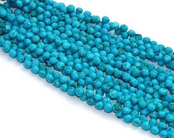 10 Pcs 7-7.5mm Turquoise Faceted Onion Beads, Turquoise Faceted Onion Briolette / Gemstone Briolette