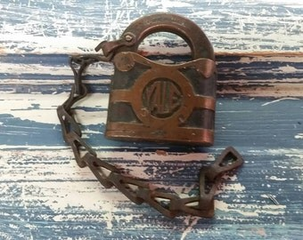 Vintage Yale Lock. Yale and Towne Padlock. Yale Padlock. No key. From. North Georgia Mountain Cabin. Old lock. Vintage Padlock