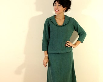 1950s Two Piece Knit Outfit