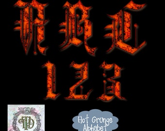 Hot Grunge Alphabet