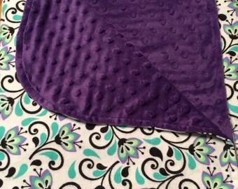 Baby Blanket, Minky Baby Blanket,  Purple Baby Blanket , Baby Girl Blanket, Stroller Blanket, Nursery Blanket, Crib Blanket