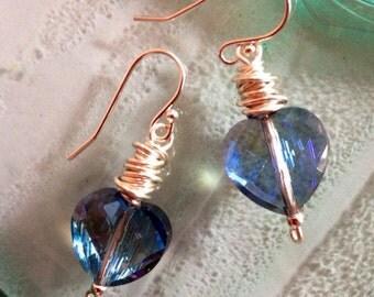 Wirewrapped Heart Earrings
