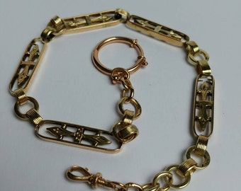 Beautifull Victorian 14k gold watch chain watchchain