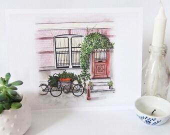 amsterdam house print