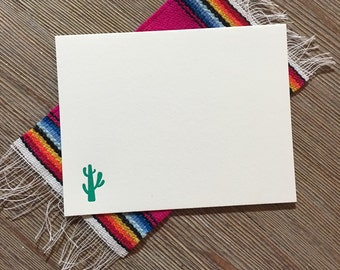 Letterpress Cactus Note Cards - set of 15 with envelopes