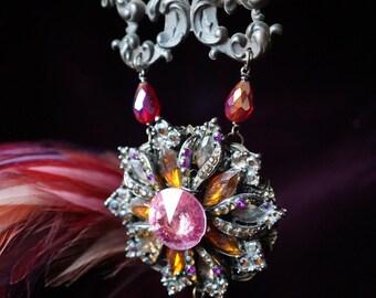 French Flourish & Crystal Starburst Jewelry Ensemble