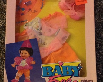 "Galoob Baby Face Fashions ""Goin' to a Party"" NRFP"
