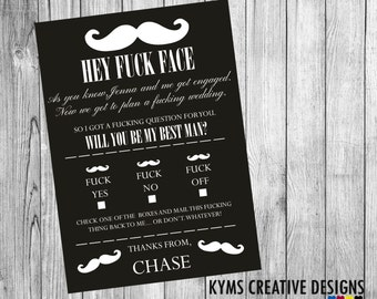 Will you be my Best Man, Will you be my best man invitation, best man announcement, Funny wedding card,  Supplied with Envelope