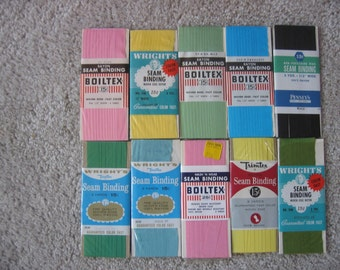 Vintage Seam Binding Lot of Ten Packages