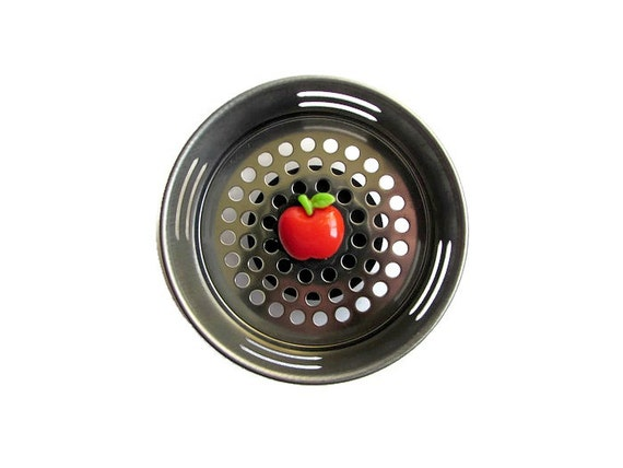 Sink strainer apple decor apple item teacher gift apple - Decorative kitchen sink strainers ...
