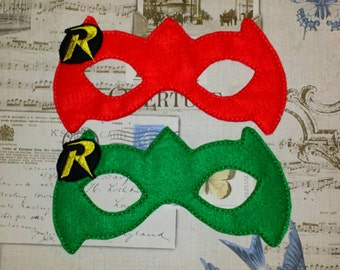 Robin super hero inspired mask ITH Project In the Hoop Embroidery Design  batman Costume Cosplay Fancy dress, Masquerade, Photo booth, Prop.