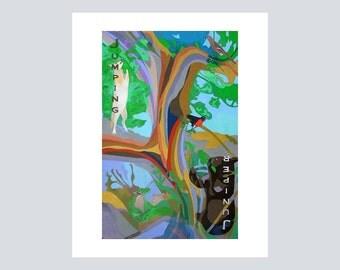 PRINT METALLIC,Archival Giclee Print,FineArtPrint,Art Gallery,Online,Artist Wall Art,Décor Wall,Tree Artwork,Bosque,Southwestern Art