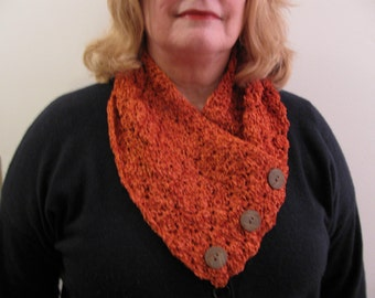 Hand Crocheted Lacy Soft Neck Warmer