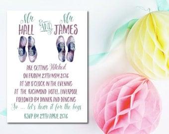20 Wedding Invitations - Mr and Mr - Jarvis