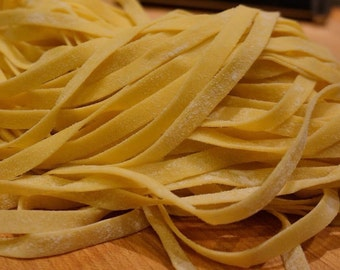 Parmigiano Cheese & Garlic Infused FETTUCCINE - Fresh Hand Made Pasta - 12oz.