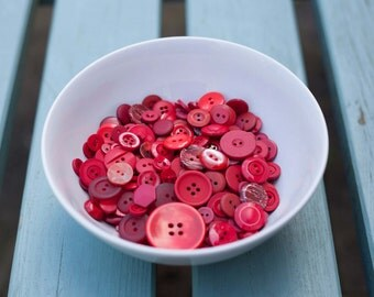 Assorted Red Buttons