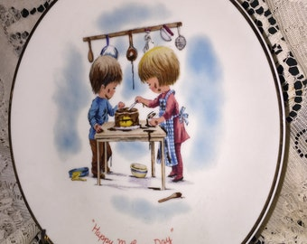 Gorham Fine China Presents: Moppets Plate, Mothers Day 1978 Commemorative Plate; Fran Mar Moppets Collecgtible Plate; Gorham USA Fine China