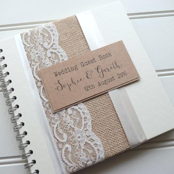 Hessian/Burlap Rustic Wedding Scrapbook By ThePaperBirdCompany