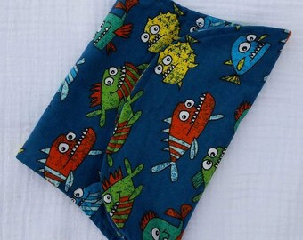 Burp cloths -fishies-