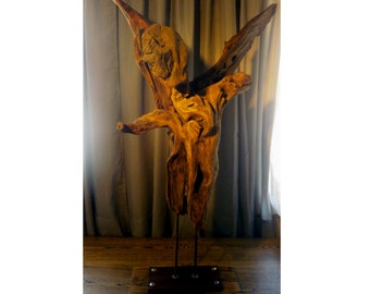 Driftwood sculpture the Fallen Angel