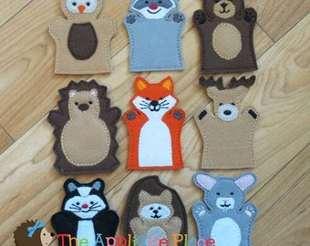 Woodland Finger Puppets *Set of 9