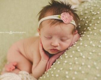 Pink Flower Tieback Newborn Photography Prop