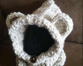 Toddler Bear Cowl Hood