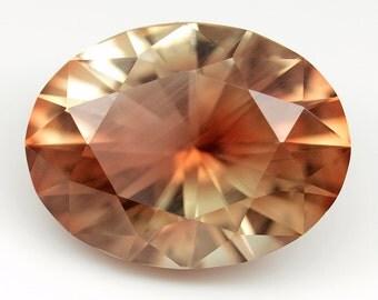5.05 ct Genuine Oregon Sunstone. Custom Cut. Natural, untreated loose gemstone. Barion oval cut