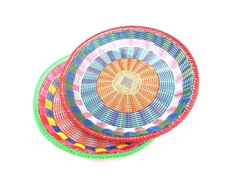 multicolor mexican basket (medium)