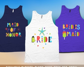Bachelorette Tank Top - Bachelorette Party, bridesmaid matching t-shirts, Girls Night Out, wedding day tanks, Bridesmaid Tank Top - CT-516