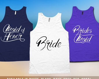 Bachelorette Tank Top - Bachelorette Party Shirts,bridesmaid matching t-shirts,wedding day getting ready tank tops, Bridesmaid tshirt CT-525
