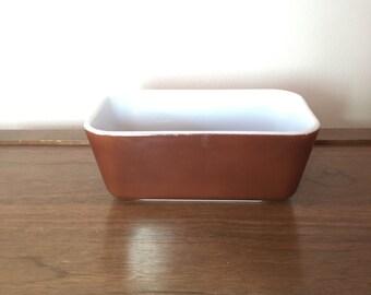 Vintage Brown Pyrex Large Fridgie Loaf Dish 0502
